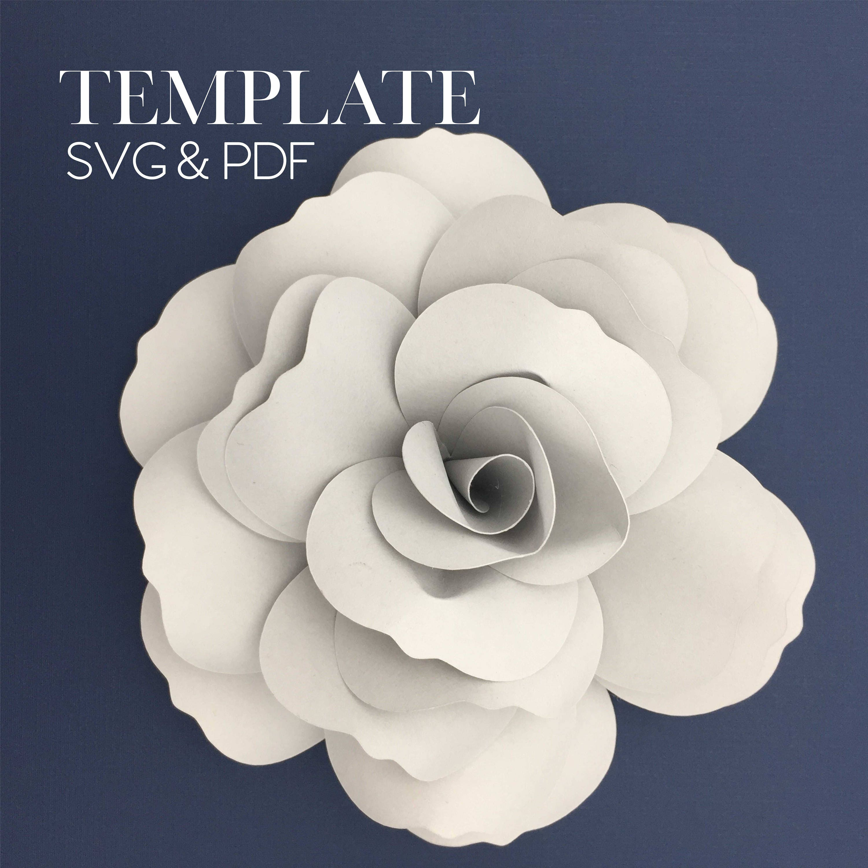 French Rose Template Svg Digital File Only Etsy