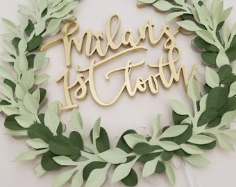 Laurel Wreath Cake Topper CUSTOMIZE with 3 Words