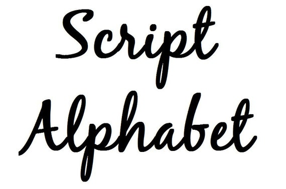Instant Download Script Alphabet Filet Crochet Cross Stitch