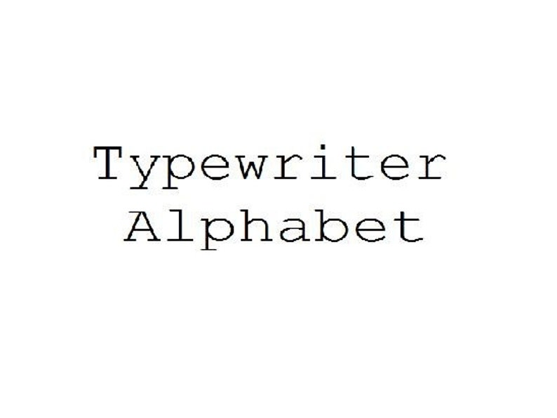 ALPHABET Upper /& Lower Case//Numbers FILET CROCHET
