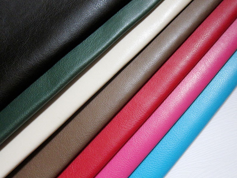 Faux Leather Fabric in Lambskin Pattern Lime Green Half Yard