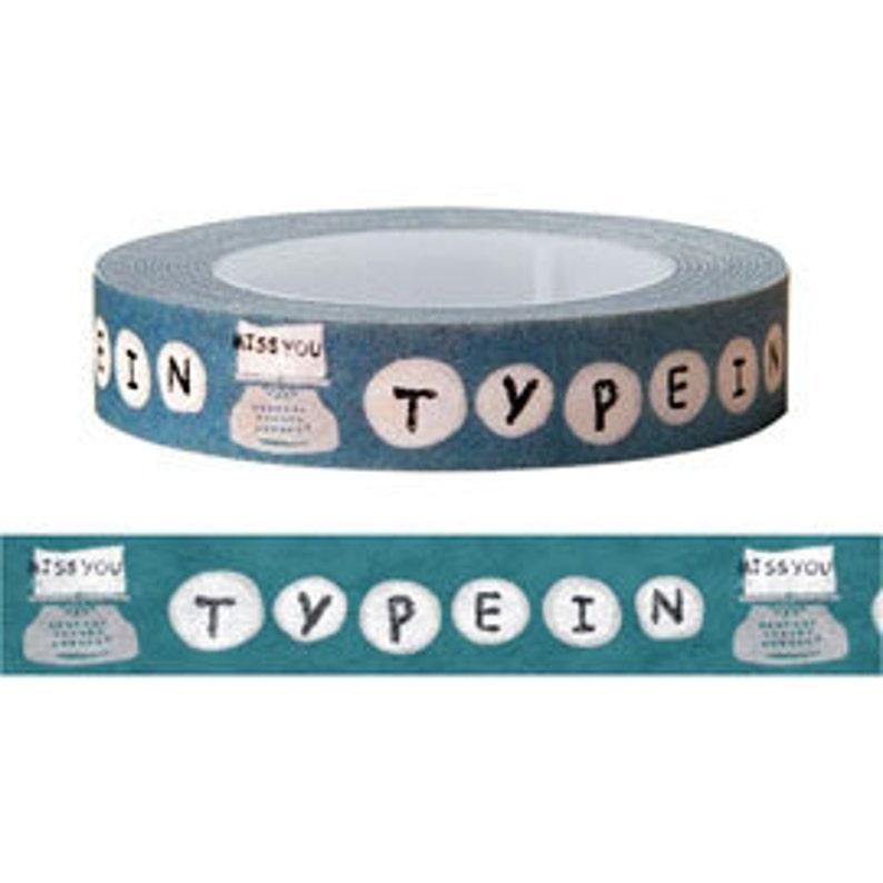 FREE SHIPPING Typewriter Washi Tape  Masking Tape Deco Tape 10mm x 15m long