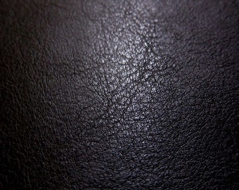 Faux Leather Fabric in Lambskin Pattern - Black - Half Yard - Vegan Leather