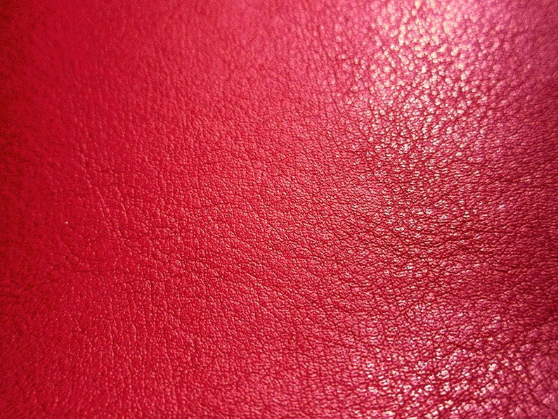 Faux Leather Fabric in Lambskin Pattern  Bright Red  Large image 0
