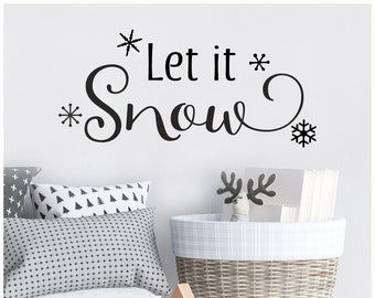 Let It Snow Vinyl Etsy