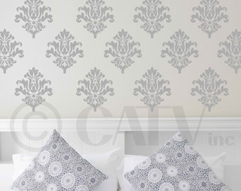 Damask wall pattern vinyl wall decal stickers set of 18 you choose color self adhesive wall paper look