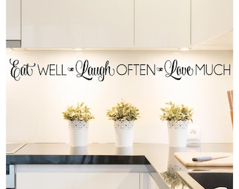 Kitchen Wall Decal Etsy
