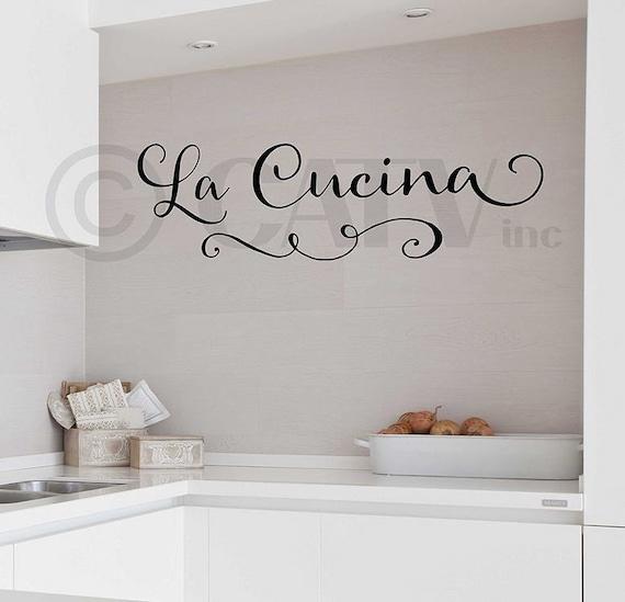 La Cucina The Kitchen wall saying sticker vinyl lettering | Etsy