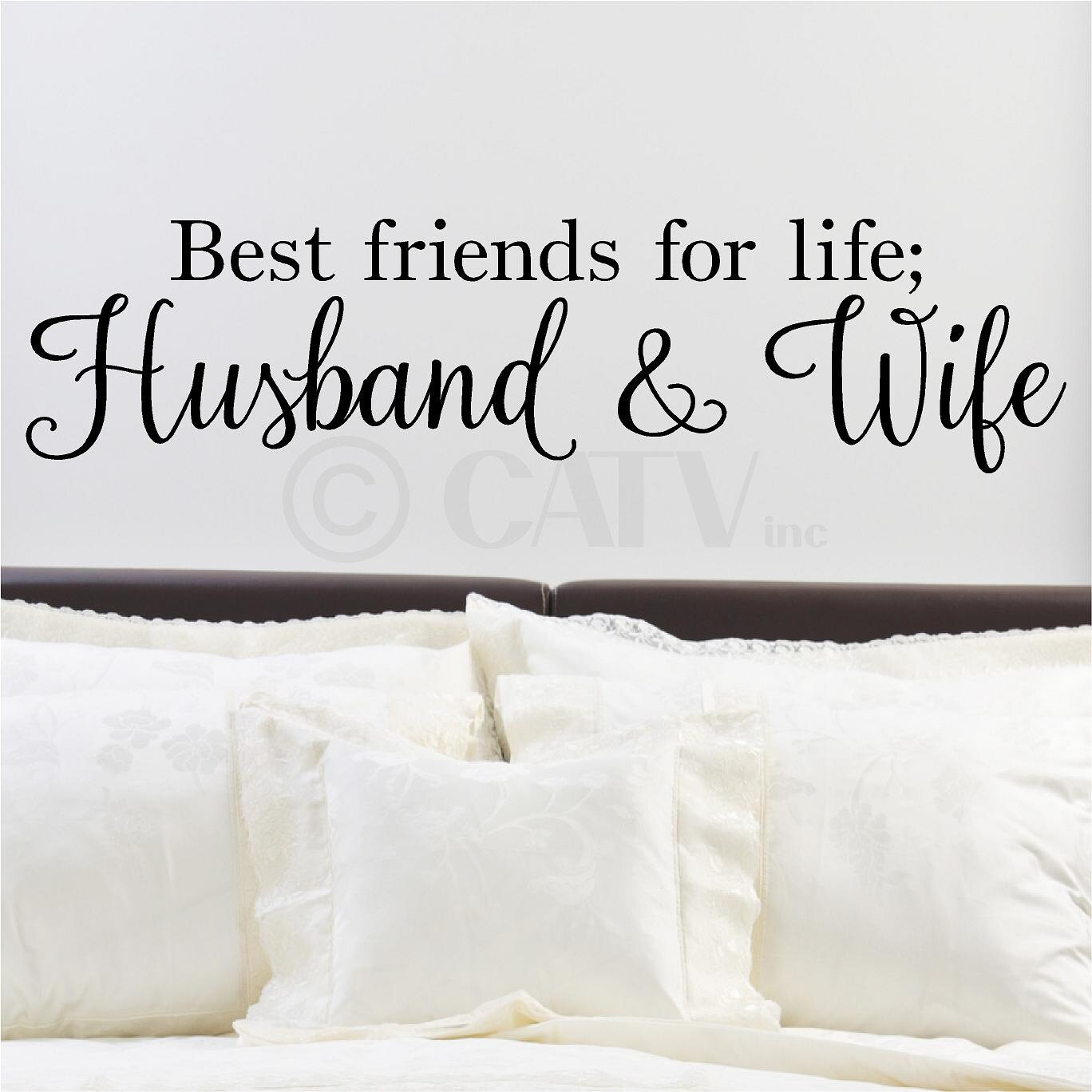 Best Friends For Life Husband Wife Vinyl Lettering Wedding Etsy