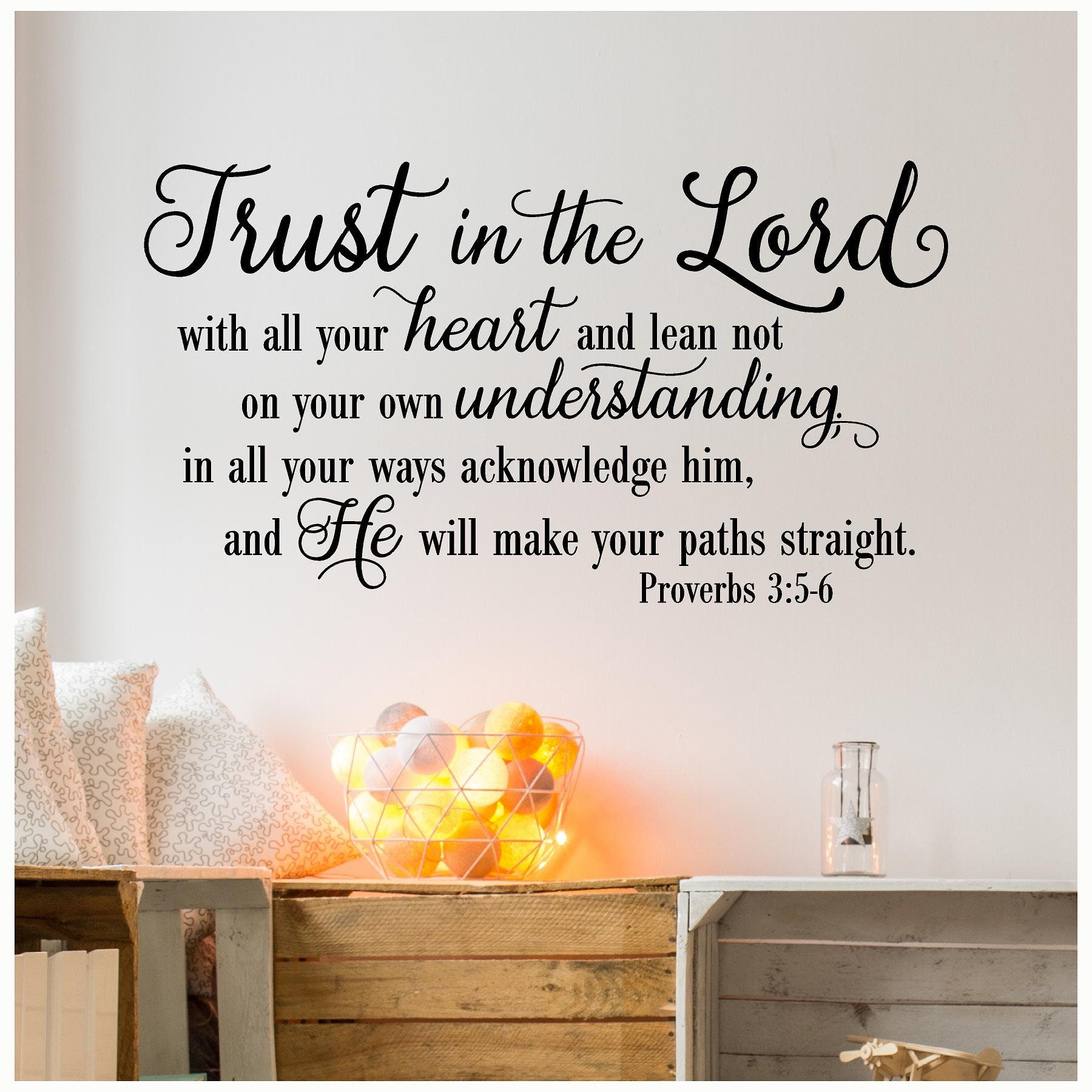 The Lord S Love Wall Decal: Trust In The Lord NEW Vinyl Wall Decal
