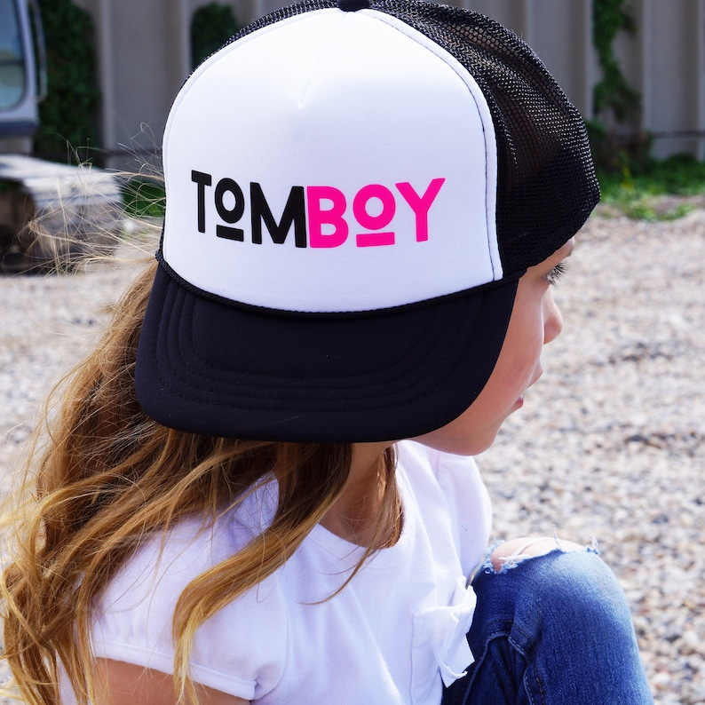757485aceaf Tomboy trucker hat youth or adult sizes snapback adjustable