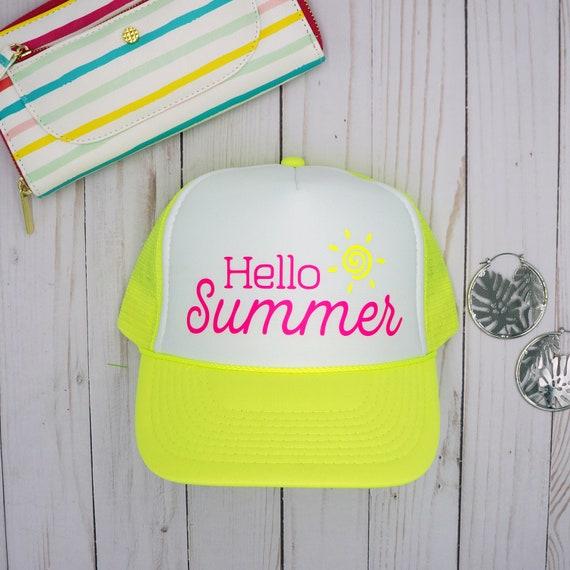 e8fea209a27 Hello Summer foam front mesh snapback trucker hat beach
