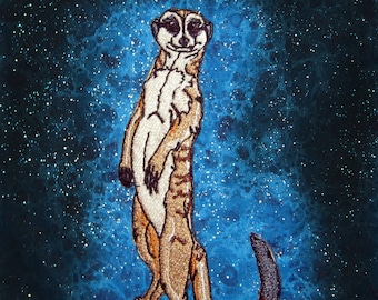 Cute Meerkat Look out Iron On Patch