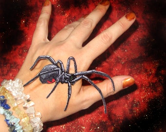 Southern Black Widow Spider  Iron on Patch