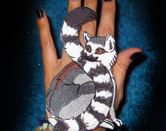 Ring-tailed Ring tail Lemur Iron on Patch