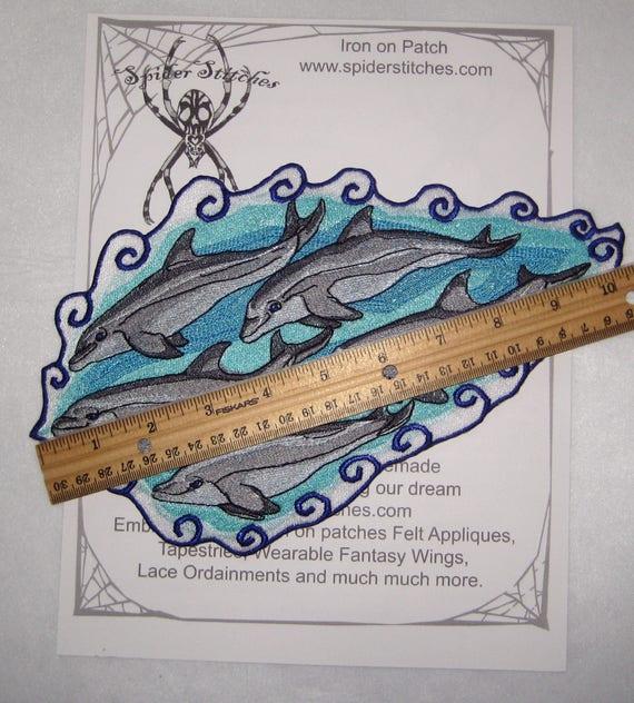 Dolphin-Dauphin à Gros Nez-life preserver-brodé Iron On Patch