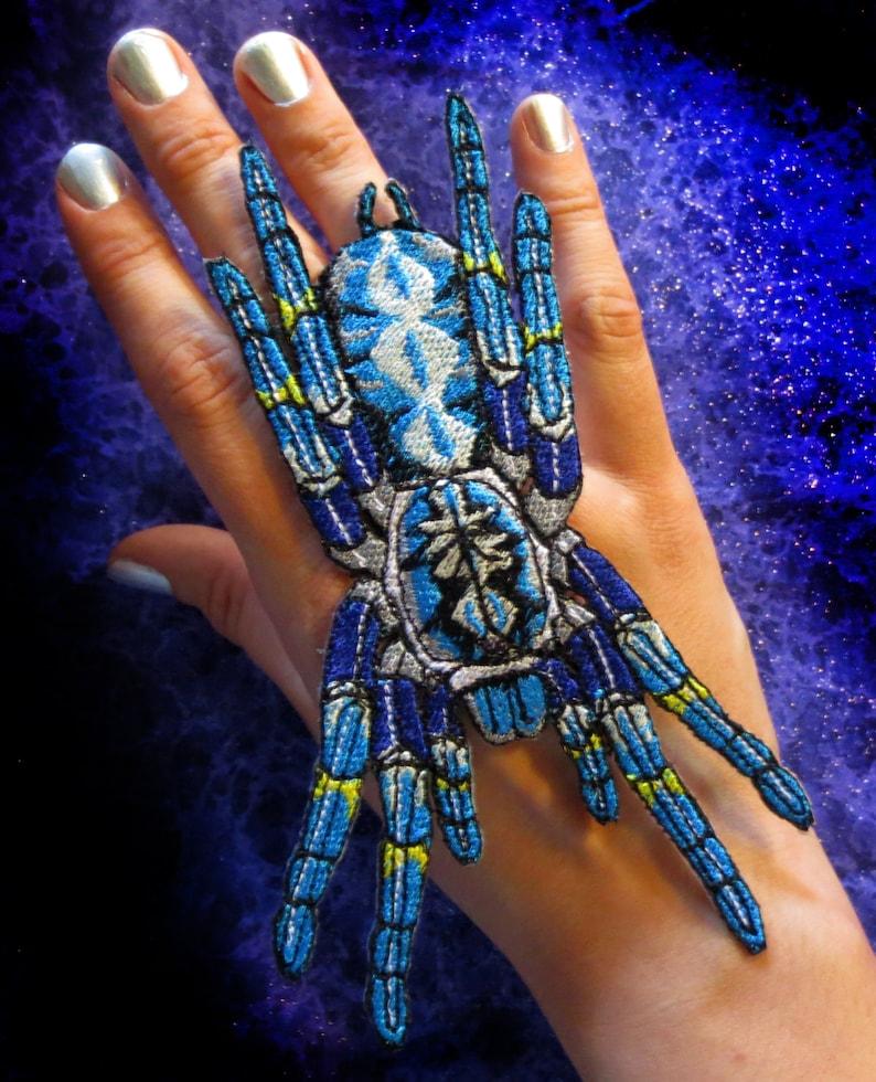 Poecilotheria Metallica Tarantula Gooty Sapphire Ornamental Tree Spider  Blue Iron on Patch