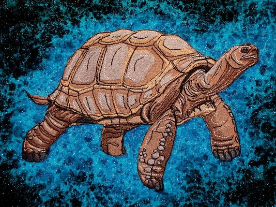 Huge Aldabra Giant Tortoise Aldabrachelys gigantea Iron on Patch
