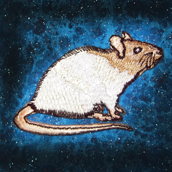 Embroidered Iron On Patches Mouse Mice Rodent Set Of 2