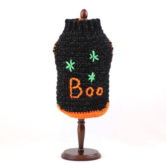 Perro suéter Halloween Halloween perro suéteres ganchillo | Etsy