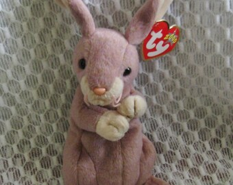 Ty Easter Bunny Beanie Baby COTTONBALL Pastel Mint with Mint Tags Smoke Free