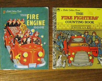 Little Golden Books - The Fire Engine and The Firefighters Counting Book