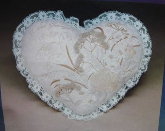 Creative Expressions Love Pillow Heart Crewel Kit