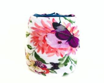 Floral Yarn Bowl- Butterfly Yarn Bowl- Yarn holder- Yarn Organizer- Spring Yarn Cozy- Crochet Accessories- Yarn Holder- Skein Coats