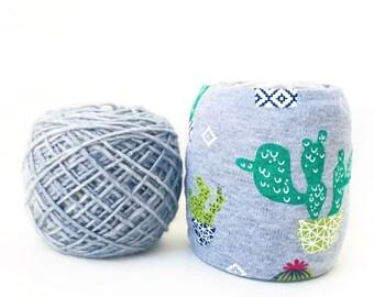 Cactus Skein Coat- Succulent Yarn Organizer- Yarn Bowl- Yarn Keeper- Yarn Sleeve- Yarn Owl- Travel Crochet- Travel Knitting- Summer Knits