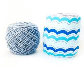 Summer Blue Beach Themed Yarn Bowl