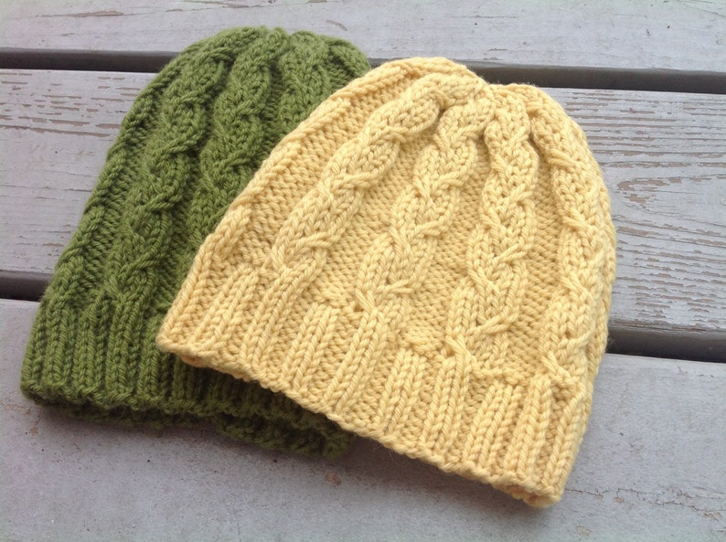 2ea394056fc Cable Knit Hat Pattern Pattern for Knitted Hats Knitting Hat