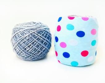 Polka Dot Yarn Cozy- Yarn Keeper- Yarn Organizer- Yarn Storage- Yarn Protector- Crochet Accessories- Yarn Holder- Skein Coats