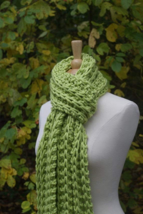 Knit Scarf Pattern Chunky Scarf Pattern Easy Knit Pattern Etsy