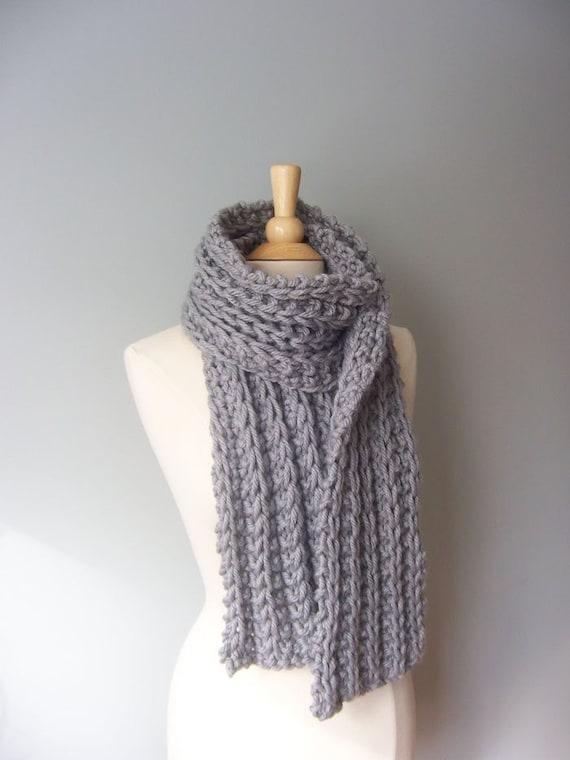 Knit Scarf Pattern Chunky Scarf Pattern Easy Knit Pattern Etsy