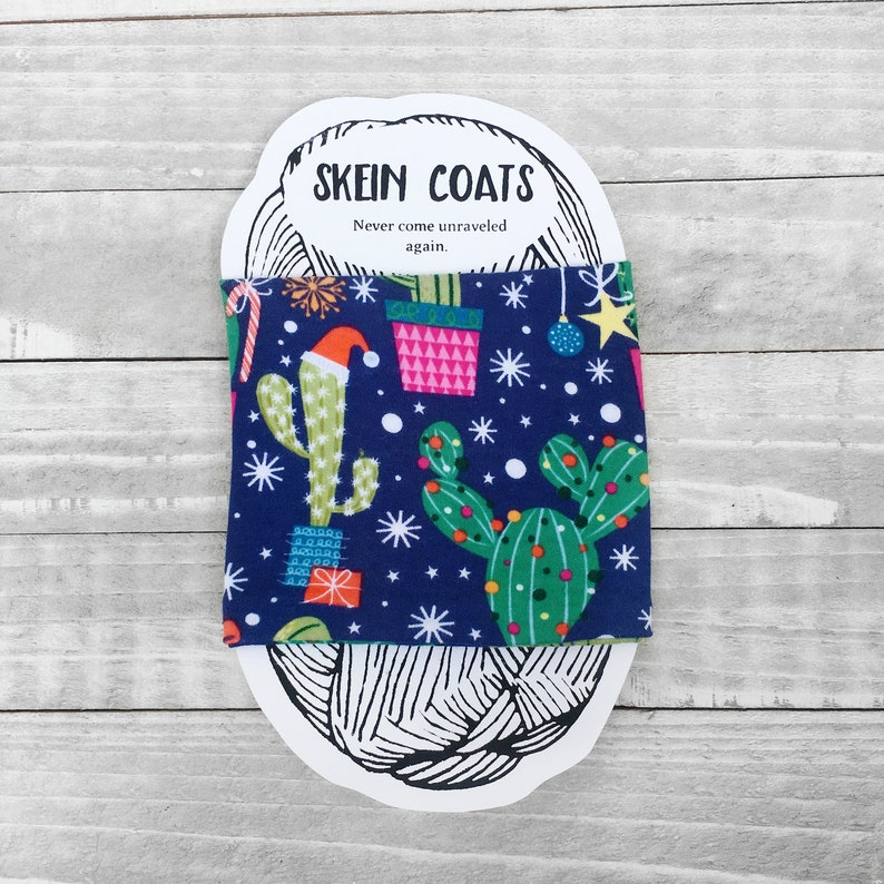 a2375f05f Christmas Cactus Skein Coat Cactus Yarn Holder Yarn | Etsy