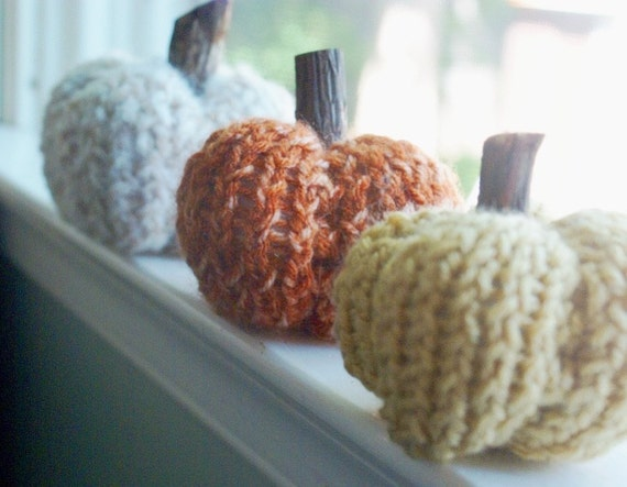 Darling Knit Pumpkins