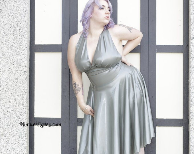 Featured listing image: Silver Marilyn Monroe style dress, size XL, Ready to ship!