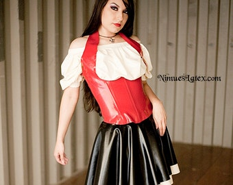 Latex Bar Maid Outfit.  Pieces available seperately, or order the whole outfit!