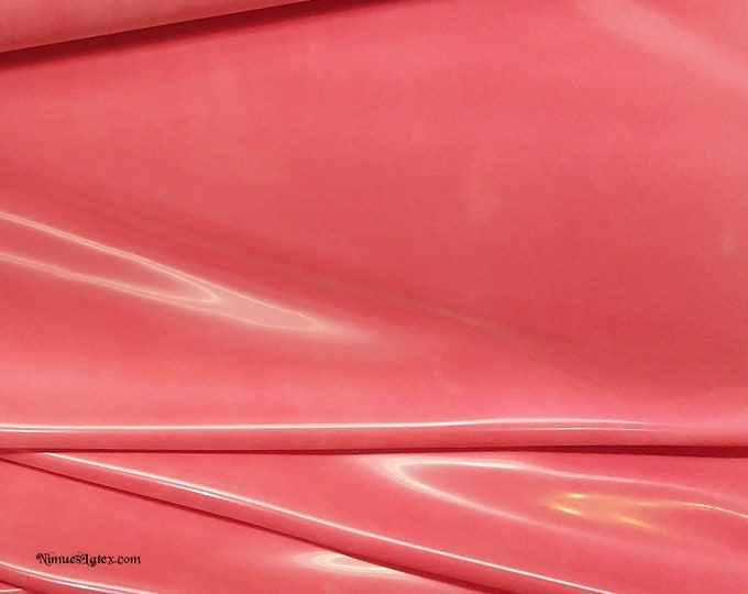 Featured listing image: Fashion Grade RASPBERRY Sheet Latex, .50mm gauge, sold by the yard