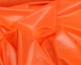 Fashion Grade VIBRANT BRIGHT ORANGE Latex Sheeting .33mm gauge Sold by-the-yard