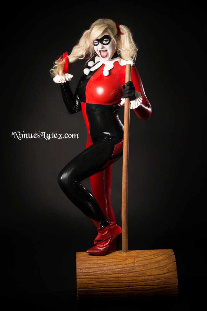 Harley Quinn Latex Catsuit