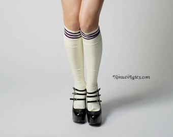 Knee-High Socks with top stripes