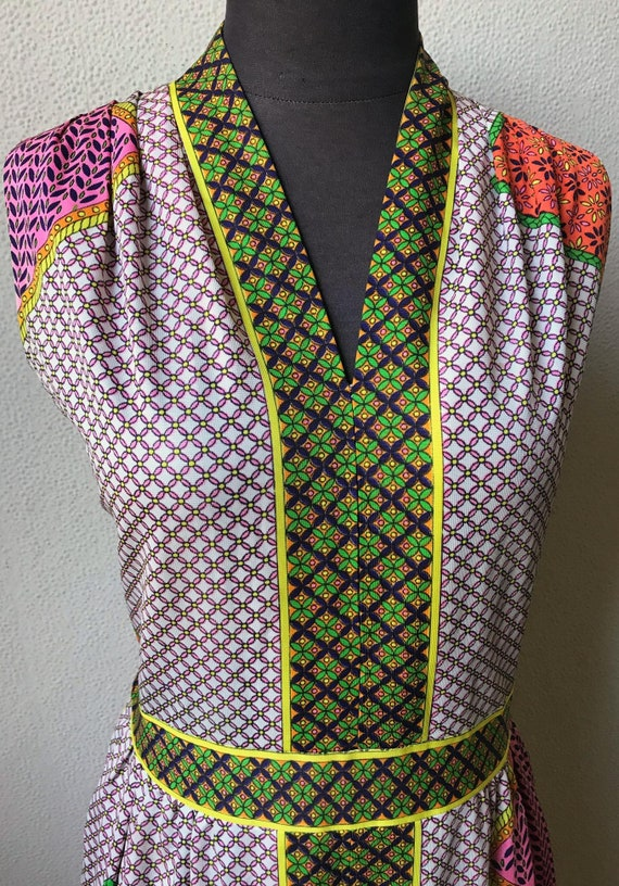 60's Really Cute Patchwork Mod Look Summer Maxi D… - image 2