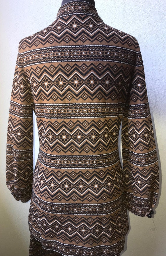 60's Vtg. Amazing Graphic Knit Tunic & Pant 2pc. … - image 6