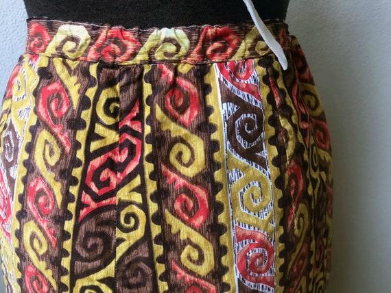50's Coolest Hawaiian Tiki Print Cotton Bermuda S… - image 6