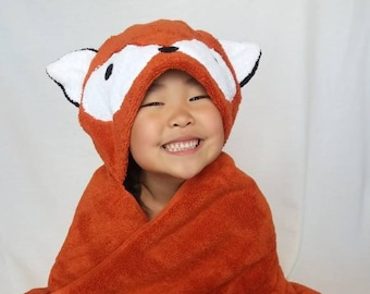 Fox Hooded Towel - Personalization available