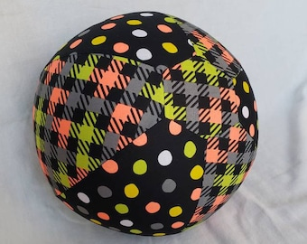 Balloon Ball / cover toy - neon dots and plaid