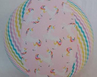 Balloon Ball - Rainbow Unicorn Pony & ric rak Chevron - as seen with Michelle Obama on Parenting.com