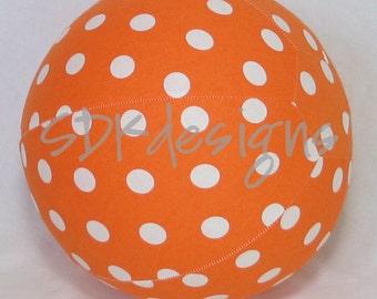 Balloon Ball TOY - Bright Orange Polka Dot Fabric - perfect Birthday Gift or party decor