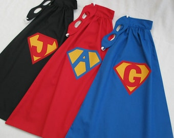 Little Super Hero Cape and Mask - PERSONALIZED - Great Halloween Costume or Birthday Present